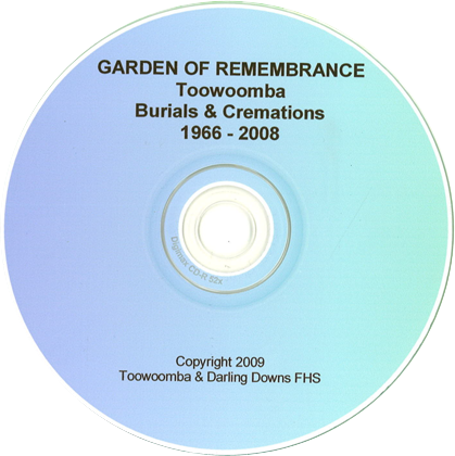 Garden of Remembrance Toowoomba: burials and cremations 1966-2008